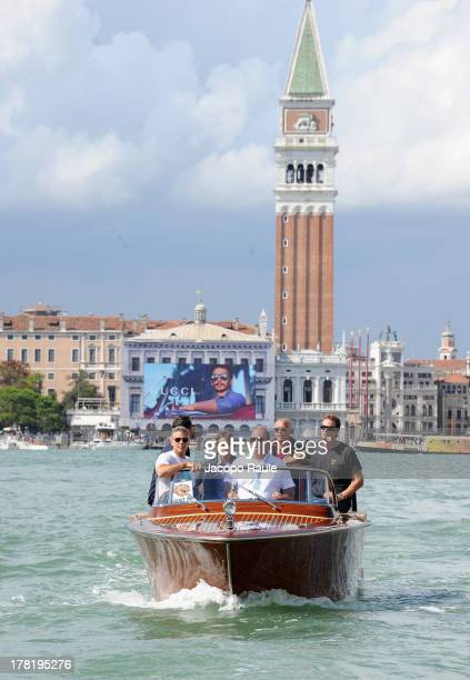 Actor George Clooney and Rande Gerber are seen during the 70th Venice International Film Festival on August 27 2013 in Venice Italy