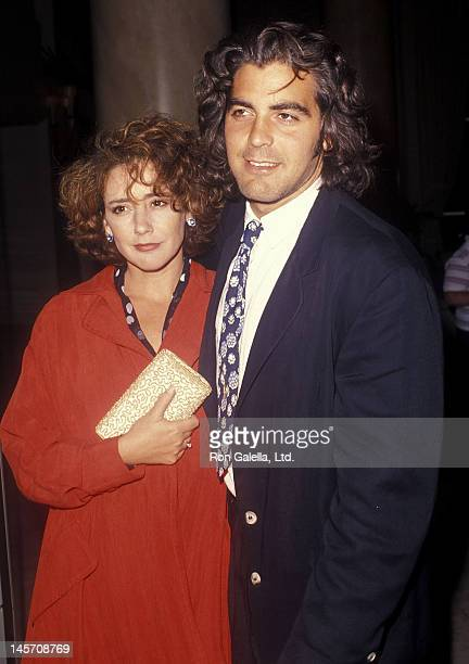 Actor George Clooney and wife Talia Balsam attend the ABC Television Affiliates Party on June 14 1990 at the Century Plaza Hotel in Los Angeles...