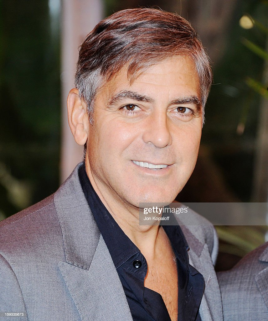 Actor <a gi-track='captionPersonalityLinkClicked' href=/galleries/search?phrase=George+Clooney&family=editorial&specificpeople=202529 ng-click='$event.stopPropagation()'>George Clooney</a> arrives at the 2012 AFI Awards Luncheon on January 11, 2013 in Beverly Hills, California.