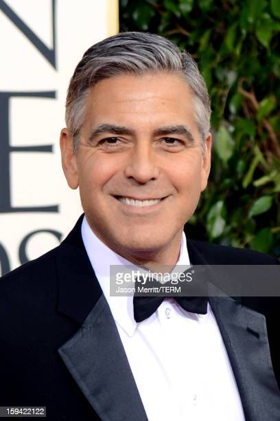 Actor George Clooney arrives at the 70th Annual Golden Globe Awards held at The Beverly Hilton Hotel on January 13 2013 in Beverly Hills California