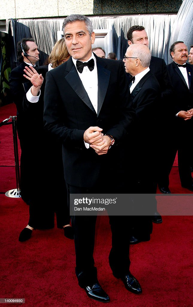 Actor George Clooney arrives at the 84th Annual Academy Awards held at Hollywood Highland Centre on February 26 2012 in Hollywood California