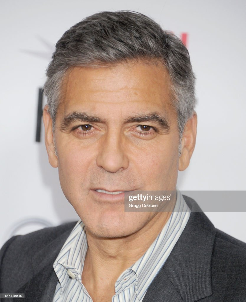 Actor <a gi-track='captionPersonalityLinkClicked' href=/galleries/search?phrase=George+Clooney&family=editorial&specificpeople=202529 ng-click='$event.stopPropagation()'>George Clooney</a> arrives at the AFI FEST 2013 Gala Screening of 'August: Osage County' at TCL Chinese Theatre on November 8, 2013 in Hollywood, California.