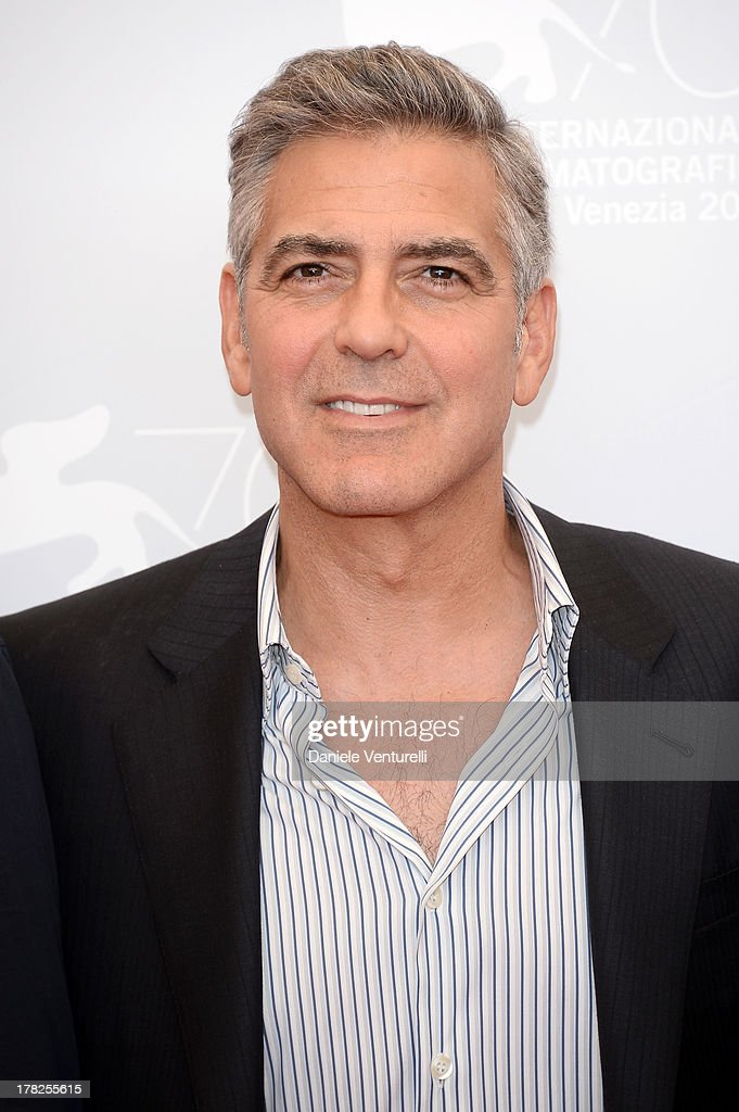 Actor <a gi-track='captionPersonalityLinkClicked' href=/galleries/search?phrase=George+Clooney&family=editorial&specificpeople=202529 ng-click='$event.stopPropagation()'>George Clooney</a> attends 'Gravity' Photocall during the 70th Venice International Film Festival on August 28, 2013 in Venice, Italy.