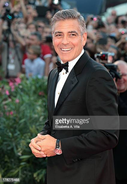 Actor George Clooney attends 'Gravity' Premiere and Opening Ceremony during the 70th Venice International Film Festival at the Palazzo del Cinema on...