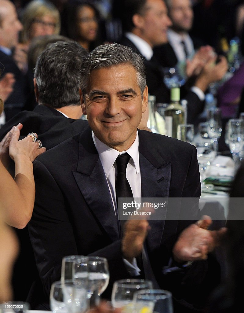 Actor <a gi-track='captionPersonalityLinkClicked' href=/galleries/search?phrase=George+Clooney&family=editorial&specificpeople=202529 ng-click='$event.stopPropagation()'>George Clooney</a> attends the 18th Annual Critics' Choice Movie Awards held at Barker Hangar on January 10, 2013 in Santa Monica, California.
