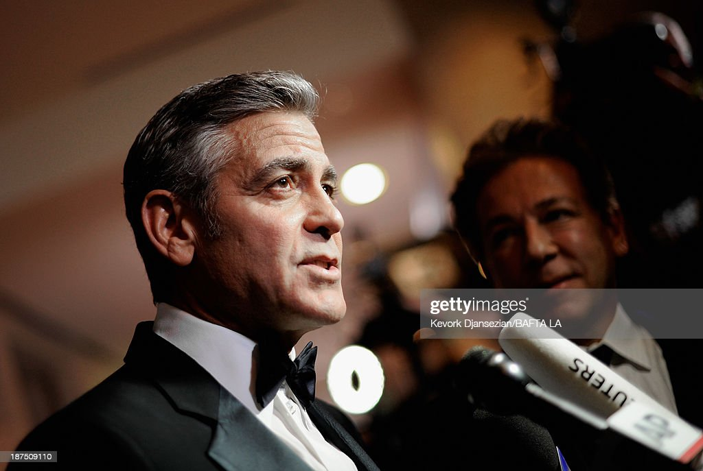 Actor George Clooney attends the 2013 BAFTA LA Jaguar Britannia Awards presented by BBC America at The Beverly Hilton Hotel on November 9, 2013 in Beverly Hills, California.