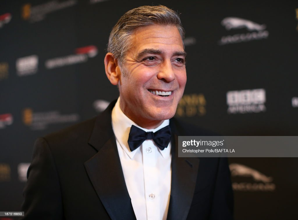 Actor <a gi-track='captionPersonalityLinkClicked' href=/galleries/search?phrase=George+Clooney&family=editorial&specificpeople=202529 ng-click='$event.stopPropagation()'>George Clooney</a> attends the 2013 BAFTA LA Jaguar Britannia Awards presented by BBC America at The Beverly Hilton Hotel on November 9, 2013 in Beverly Hills, California.