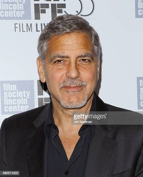 Actor George Clooney attends the 53rd New York Film Festival 'O Brother Where Art Thou' 15th anniversary screening at Alice Tully Hall on September...