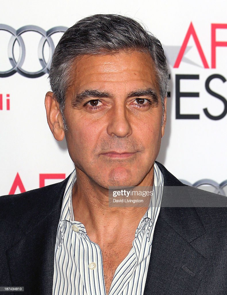 Actor <a gi-track='captionPersonalityLinkClicked' href=/galleries/search?phrase=George+Clooney&family=editorial&specificpeople=202529 ng-click='$event.stopPropagation()'>George Clooney</a> attends the AFI FEST 2013 presented by Audi premiere of The Weinstein Company's 'August: Osage County' at the TCL Chinese Theatre on November 8, 2013 in Hollywood, California.