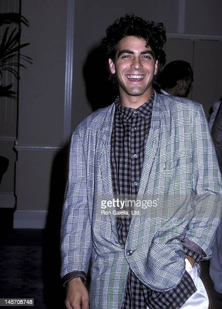 Actor George Clooney attends the Amnesty International's 25th Anniversary Celebration on September 15 1986 at the Beverly Hilton Hotel in Beverly...