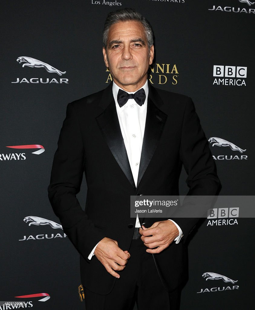 Actor <a gi-track='captionPersonalityLinkClicked' href=/galleries/search?phrase=George+Clooney&family=editorial&specificpeople=202529 ng-click='$event.stopPropagation()'>George Clooney</a> attends the BAFTA Los Angeles Britannia Awards at The Beverly Hilton Hotel on November 9, 2013 in Beverly Hills, California.
