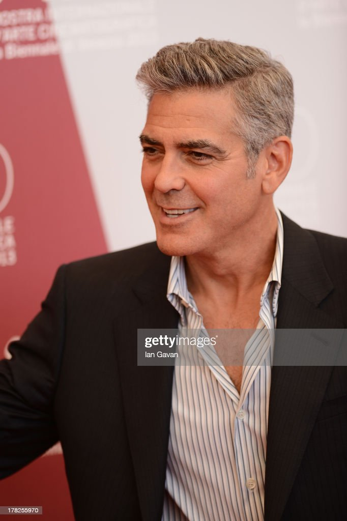 Actor <a gi-track='captionPersonalityLinkClicked' href=/galleries/search?phrase=George+Clooney&family=editorial&specificpeople=202529 ng-click='$event.stopPropagation()'>George Clooney</a> attends the 'Gravity' photocall during the 70th Venice International Film Festival at the Palazzo del Casino on August 28, 2013 in Venice, Italy.