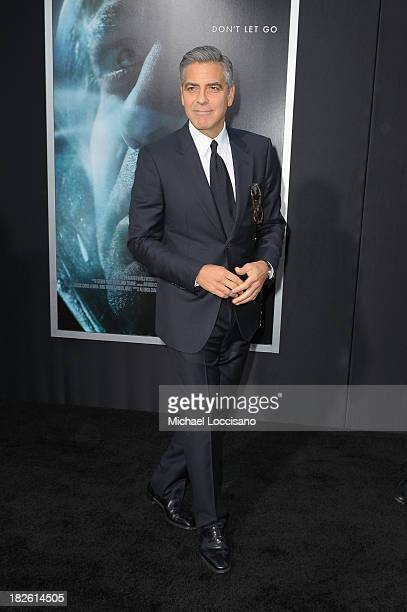 Actor George Clooney attends the 'Gravity' premiere at AMC Lincoln Square Theater on October 1 2013 in New York City