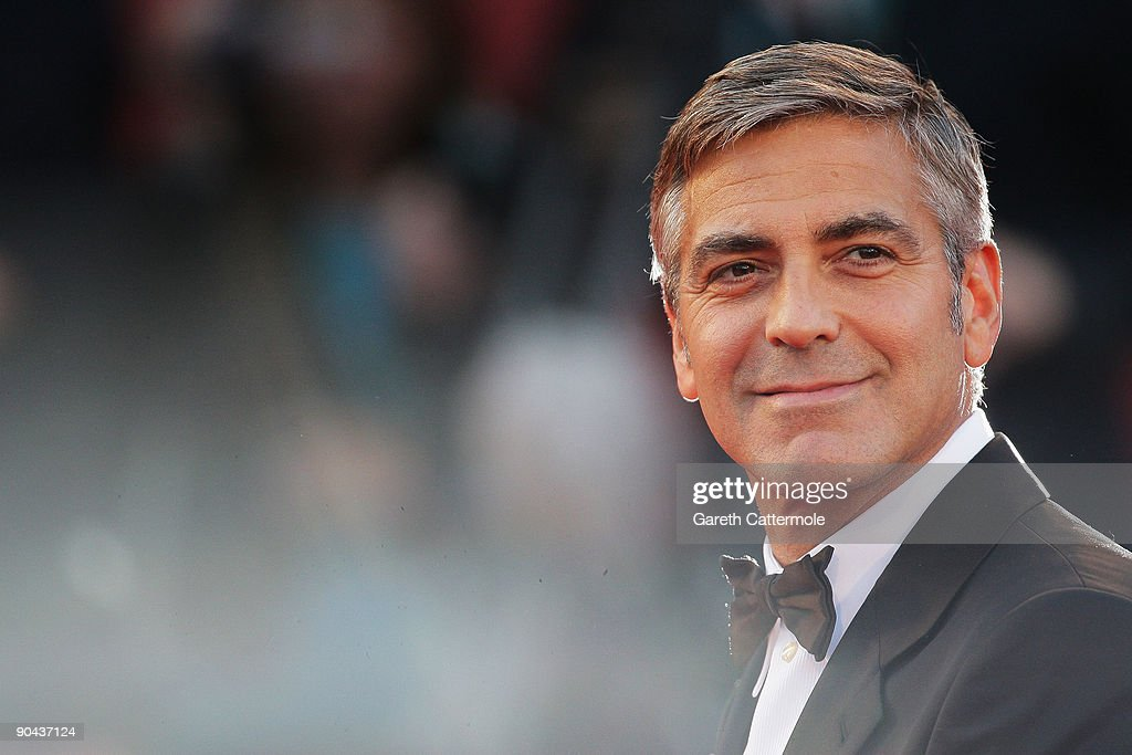 Actor <a gi-track='captionPersonalityLinkClicked' href=/galleries/search?phrase=George+Clooney&family=editorial&specificpeople=202529 ng-click='$event.stopPropagation()'>George Clooney</a> attends 'The Men Who Stare At Goats' premiere at the Sala Grande during the 66th Venice Film Festival on September 8, 2009 in Venice, Italy.
