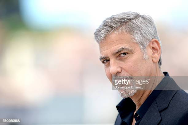 Actor George Clooney attends the 'Money Monster' photocall during the 69th annual Cannes Film Festival at the Palais des Festivals on May 12 2016 in...