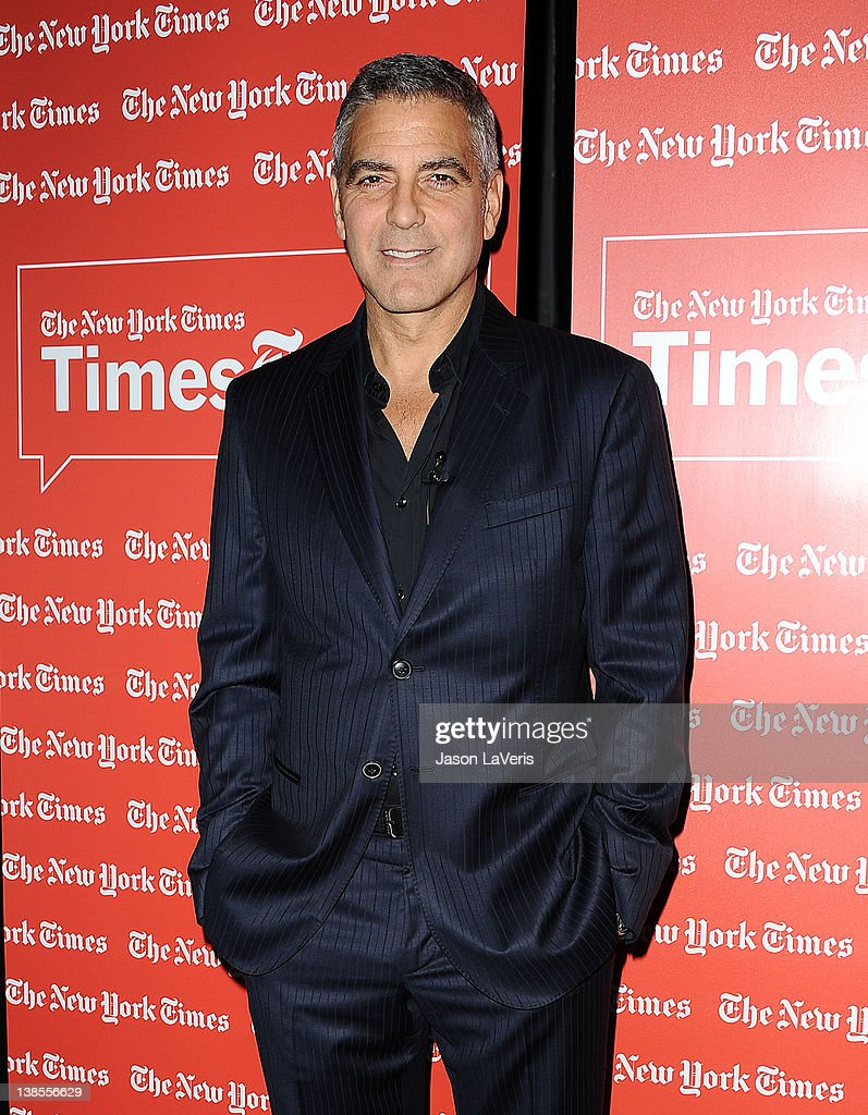 Actor <a gi-track='captionPersonalityLinkClicked' href=/galleries/search?phrase=George+Clooney&family=editorial&specificpeople=202529 ng-click='$event.stopPropagation()'>George Clooney</a> attends the West Coast TimesTalks at SilverScreen Theater at the Pacific Design Center on February 8, 2012 in West Hollywood, California.