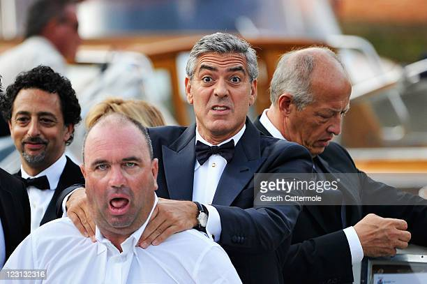 Actor George Clooney from the film 'Ides Of March' arrives at the Hotel Excelsior during the 68th Venice Film Festival on August 31 2011 in Venice...