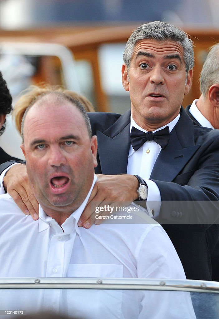 Actor <a gi-track='captionPersonalityLinkClicked' href=/galleries/search?phrase=George+Clooney&family=editorial&specificpeople=202529 ng-click='$event.stopPropagation()'>George Clooney</a> from the film 'Ides Of March' arrives at the Hotel Excelsior during the 68th Venice Film Festival on August 31, 2011 in Venice, Italy.