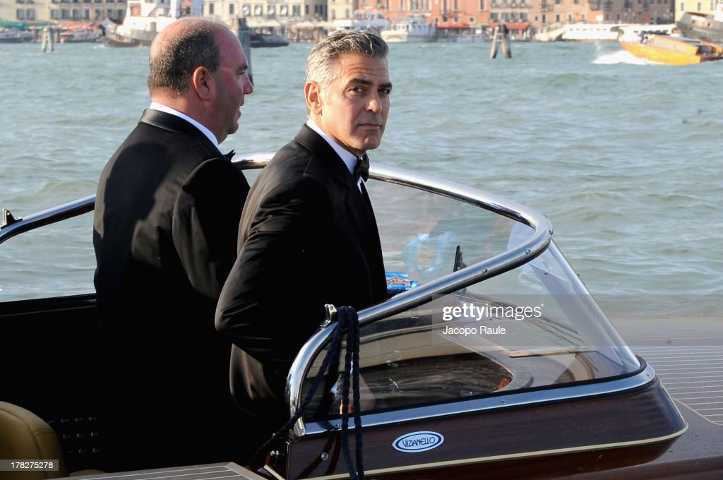 Actor <a gi-track='captionPersonalityLinkClicked' href=/galleries/search?phrase=George+Clooney&family=editorial&specificpeople=202529 ng-click='$event.stopPropagation()'>George Clooney</a> is seen during the 70th Venice International Film Festival on August 28, 2013 in Venice, Italy.