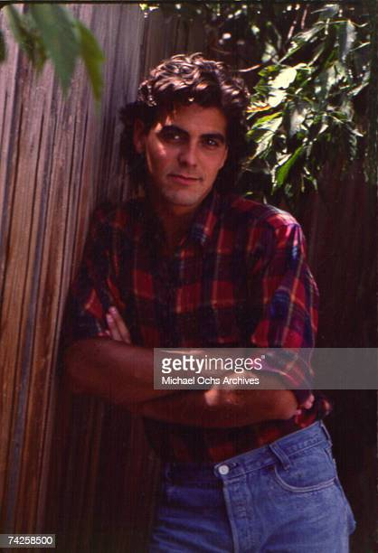 Actor George Clooney poses for a portrait session in May 1985 in Los Angeles California