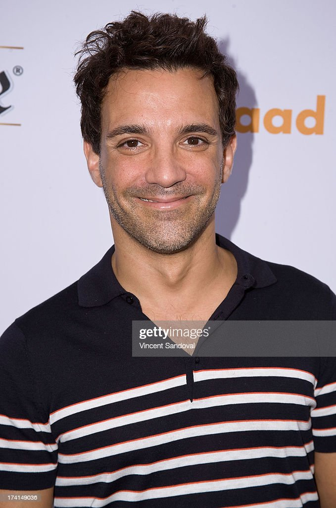 Actor <a gi-track='captionPersonalityLinkClicked' href=/galleries/search?phrase=George+Kotsiopoulos&family=editorial&specificpeople=2530004 ng-click='$event.stopPropagation()'>George Kotsiopoulos</a> attends GLAAD's annual food-themed fundraiser 'GLAAD Hancock Park' on July 20, 2013 in Los Angeles, California.