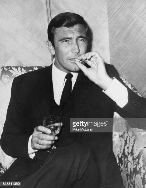 Actor George Lazenby attends a reception at the Dorchester Hotel in London to publicise his upcoming role as James Bond in the film 'On Her Majesty's...
