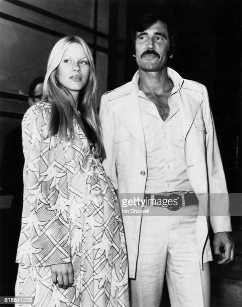 Actor George Lazenby best known for his role as James Bond marries media heiress Chrissie Townsend at Caxton Hall in London UK 23rd August 1973