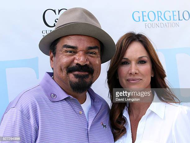 Actor George Lopez and Debbe Dunning attend the Ninth Annual George Lopez Celebrity Golf Classic at Lakeside Golf Club on May 2 2016 in Burbank...