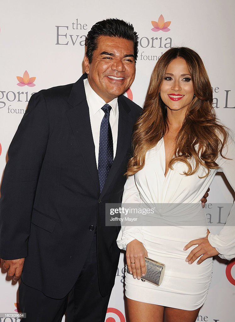 Actor <a gi-track='captionPersonalityLinkClicked' href=/galleries/search?phrase=George+Lopez&family=editorial&specificpeople=202546 ng-click='$event.stopPropagation()'>George Lopez</a> and <a gi-track='captionPersonalityLinkClicked' href=/galleries/search?phrase=Jackie+Guerrido&family=editorial&specificpeople=751026 ng-click='$event.stopPropagation()'>Jackie Guerrido</a> arrive at the Eva Longoria Foundation Dinner at Beso restaurant on September 28, 2013 in Hollywood, California.