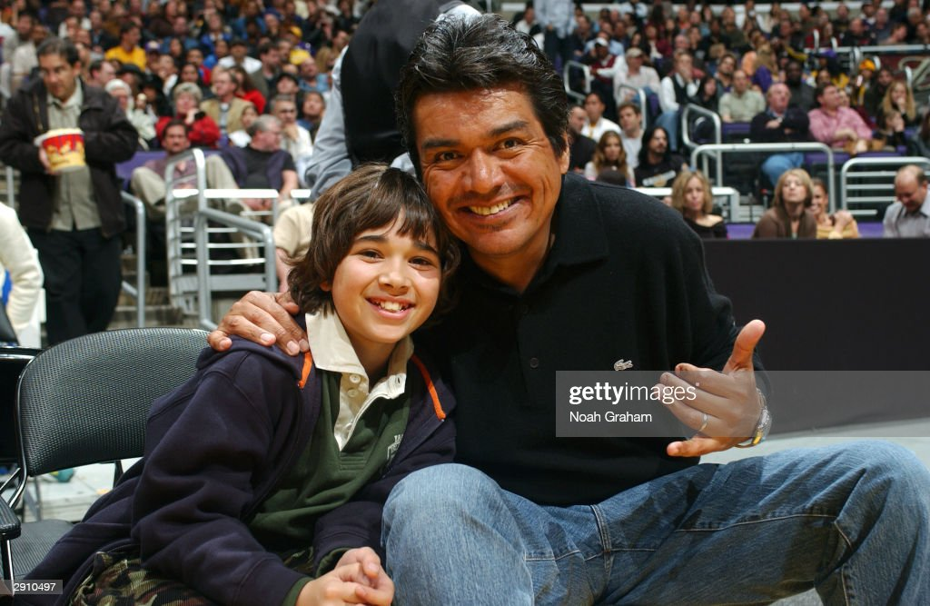 Actor George Lopez and Luis Armand Garcia at the Los Angeles Lakers ...