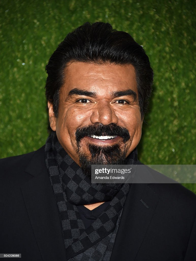 Actor George Lopez arrives at the 2016 World Dog Awards at Barker Hangar on January 9 2016 in Santa Monica California