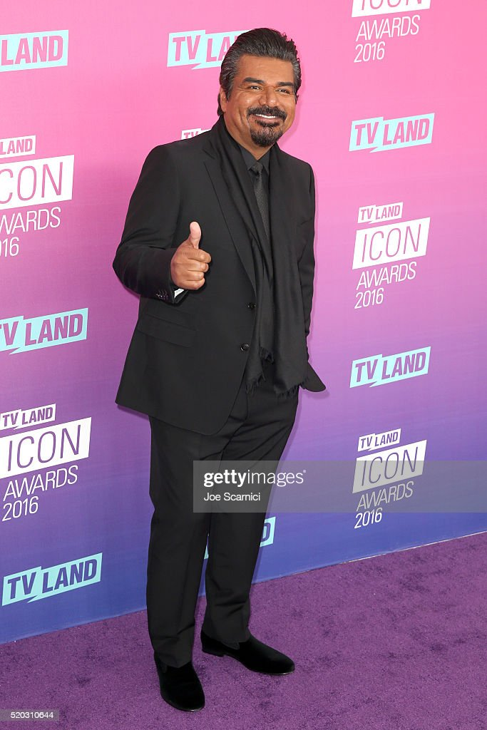Actor <a gi-track='captionPersonalityLinkClicked' href=/galleries/search?phrase=George+Lopez&family=editorial&specificpeople=202546 ng-click='$event.stopPropagation()'>George Lopez</a> attends 2016 TV Land Icon Awards at The Barker Hanger on April 10, 2016 in Santa Monica, California.