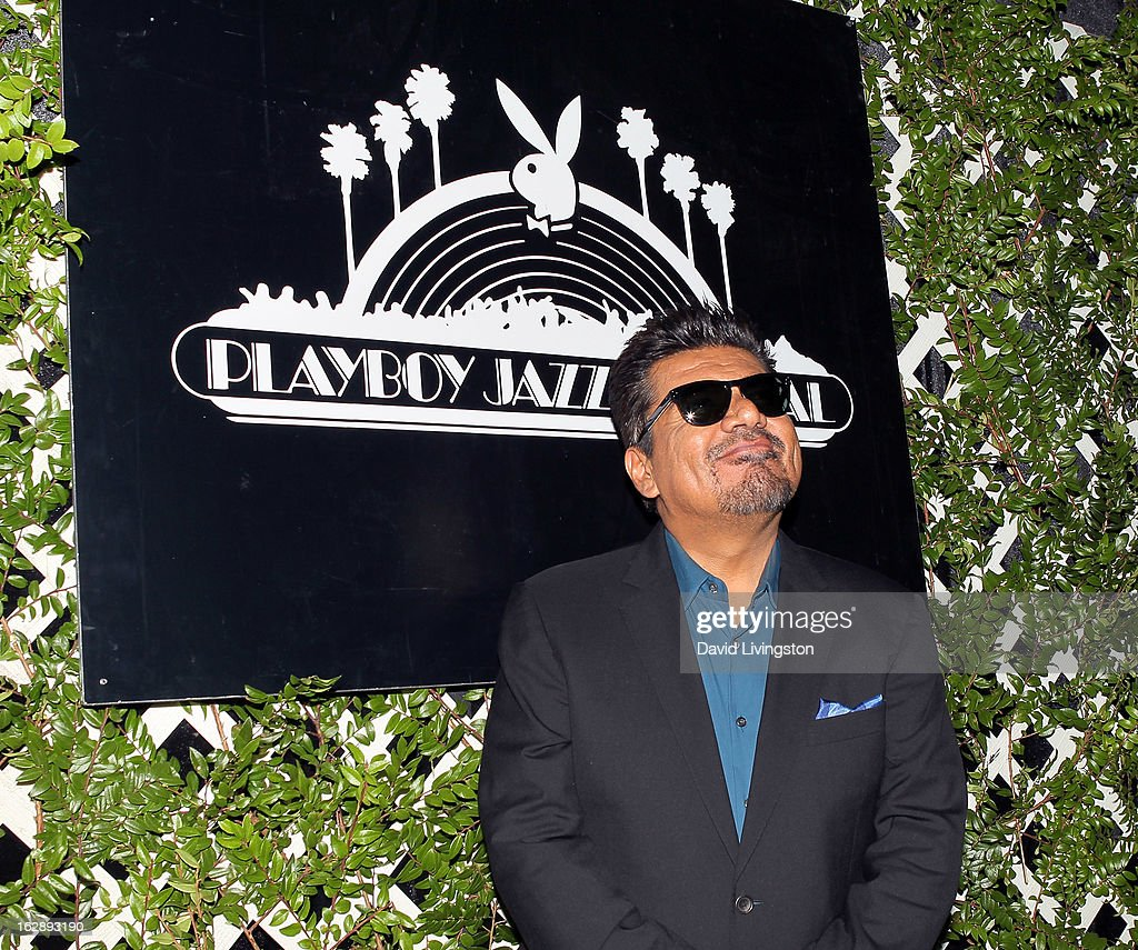 Actor <a gi-track='captionPersonalityLinkClicked' href=/galleries/search?phrase=George+Lopez&family=editorial&specificpeople=202546 ng-click='$event.stopPropagation()'>George Lopez</a> attends the 35th Anniversary Playboy Jazz Festival news conference at the Playboy Mansion on February 28, 2013 in Beverly Hills, California.