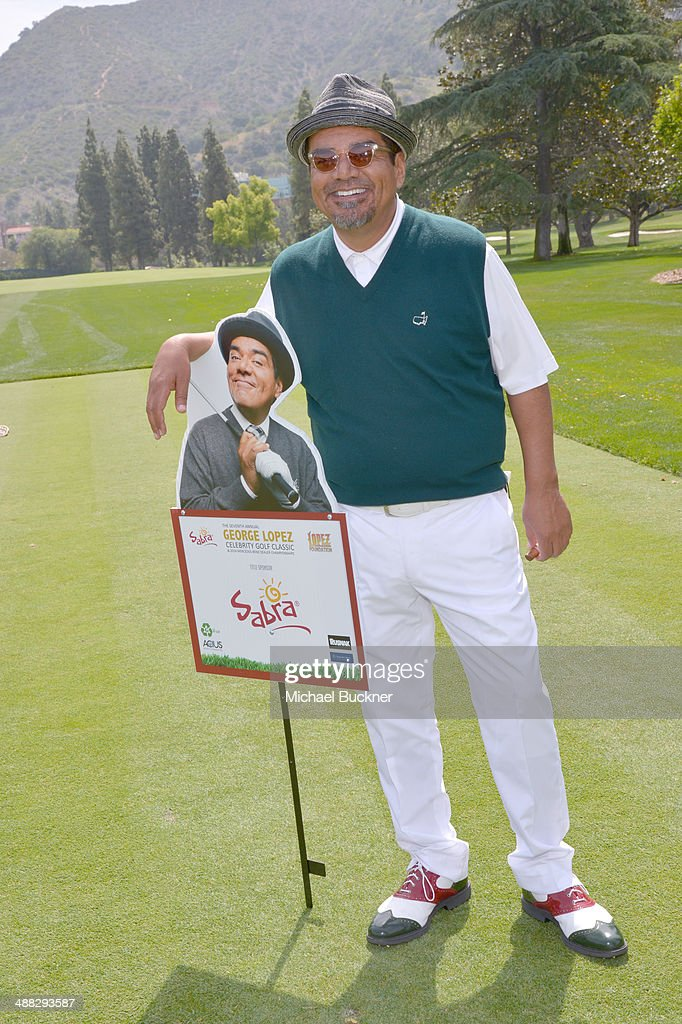 Actor George Lopez attends the 7th annual George Lopez Celebrity Golf Classic presented by Sabra Salsa at Lakeside Golf Club on May 5 2014 in Burbank...