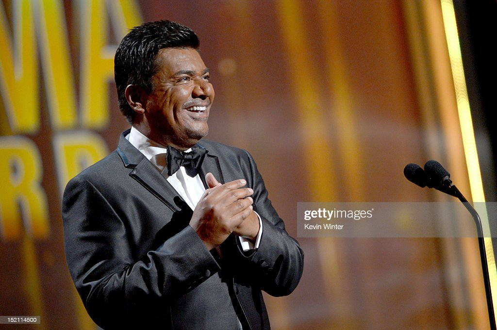 Actor <a gi-track='captionPersonalityLinkClicked' href=/galleries/search?phrase=George+Lopez&family=editorial&specificpeople=202546 ng-click='$event.stopPropagation()'>George Lopez</a> onstage at the 2012 NCLR ALMA Awards at Pasadena Civic Auditorium on September 16, 2012 in Pasadena, California.