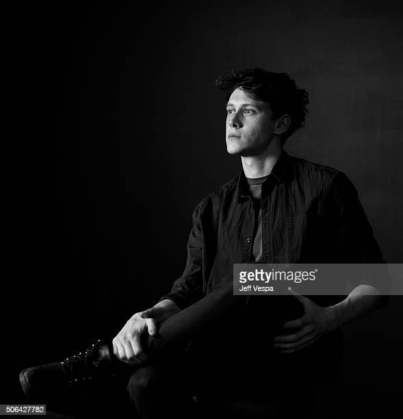 Actor George MacKay from the film 'Captain Fantastic' poses for a portrait during the WireImage Portrait Studio hosted by Eddie Bauer at Village at...