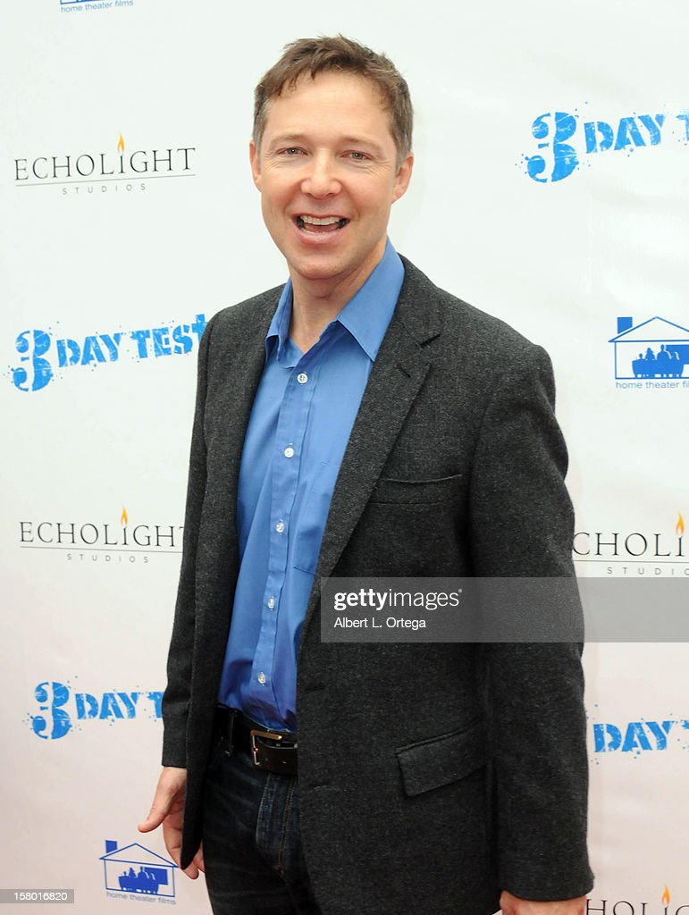 Actor George Newbern arrives for the the screening of '3 Day Test' held at Downtown Independent Theater on December 8, 2012 in Los Angeles, California.