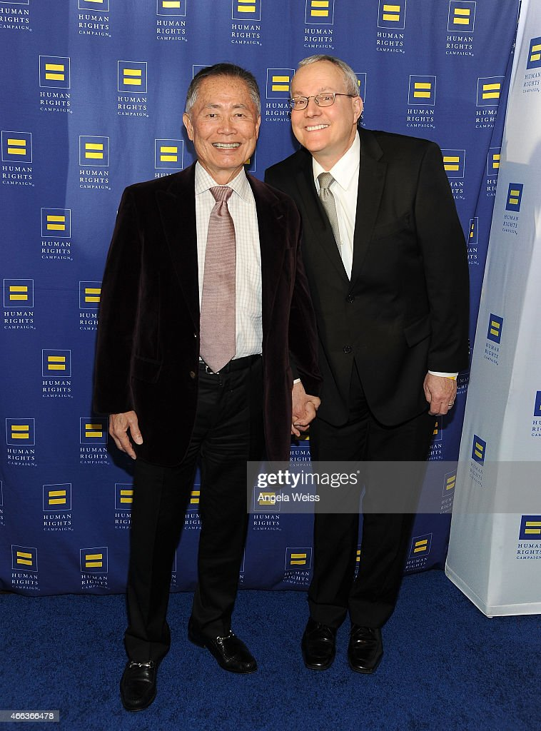 Actor <a gi-track='captionPersonalityLinkClicked' href=/galleries/search?phrase=George+Takei&family=editorial&specificpeople=1534988 ng-click='$event.stopPropagation()'>George Takei</a> (L) and <a gi-track='captionPersonalityLinkClicked' href=/galleries/search?phrase=Brad+Takei&family=editorial&specificpeople=5403945 ng-click='$event.stopPropagation()'>Brad Takei</a> attend the Human Rights Campaign Los Angeles Gala 2015 at JW Marriott Los Angeles at L.A. LIVE on March 14, 2015 in Los Angeles, California.
