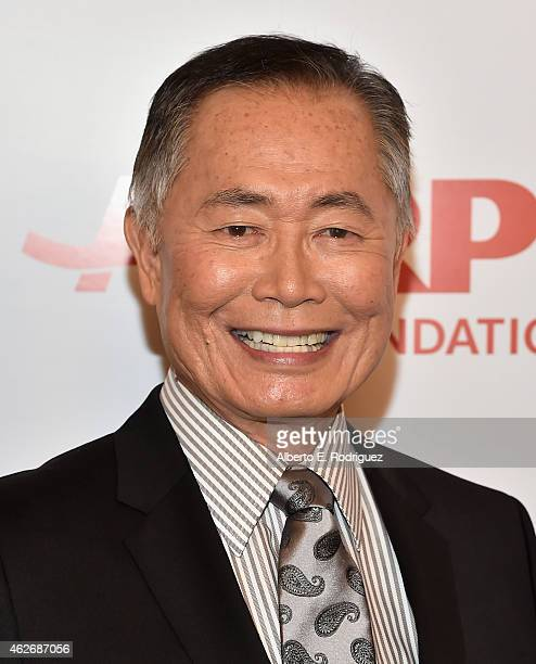 Actor George Takei arrives to AARP The Magazine's 14th Annual Movies For Grownups Awards Gala at the Beverly Wilshire Four Seasons Hotel on February...