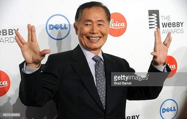 Actor George Takei attends 18th Annual Webby Awards on May 19 2014 in New York United States