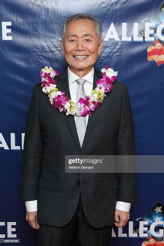 Actor <a gi-track='captionPersonalityLinkClicked' href=/galleries/search?phrase=George+Takei&family=editorial&specificpeople=1534988 ng-click='$event.stopPropagation()'>George Takei</a> attends the 'Allegiance' Broadway opening night after party at Bryant Park Grill on November 8, 2015 in New York City.