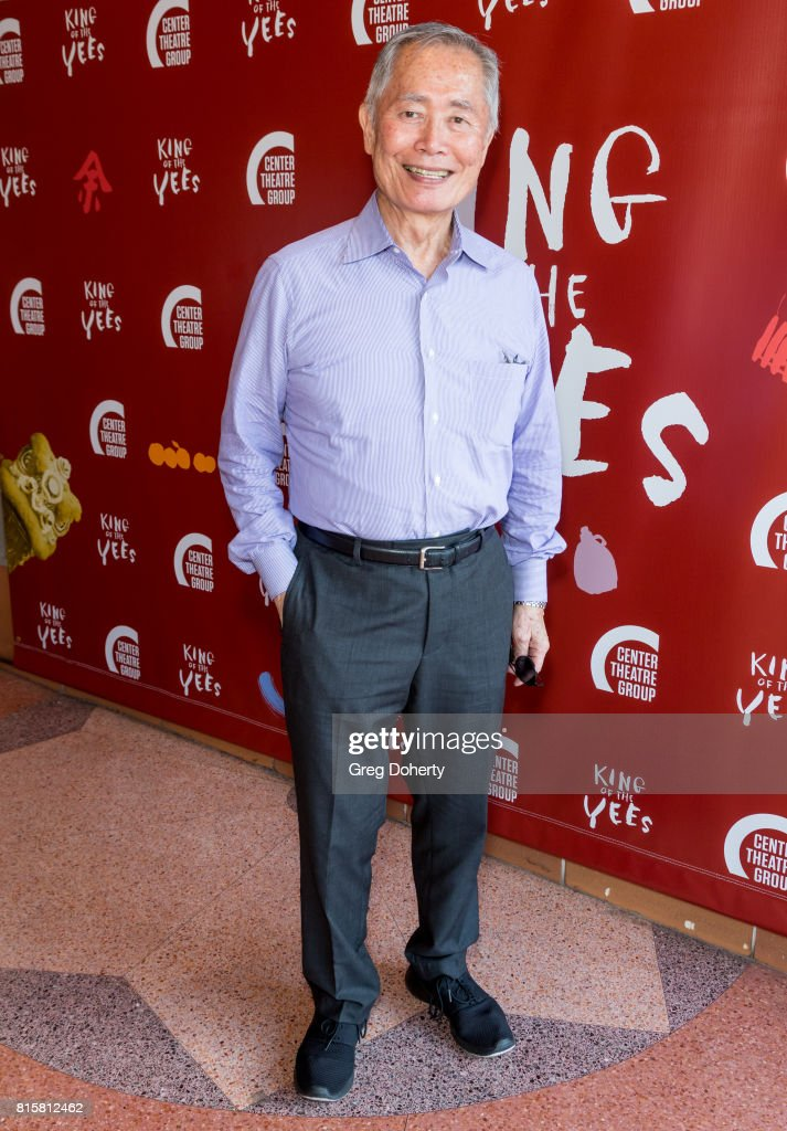 Actor George Takei attends the opening night of 'King Of The Yees' at the Kirk Douglas Theatre on July 16, 2017 in Culver City, California.