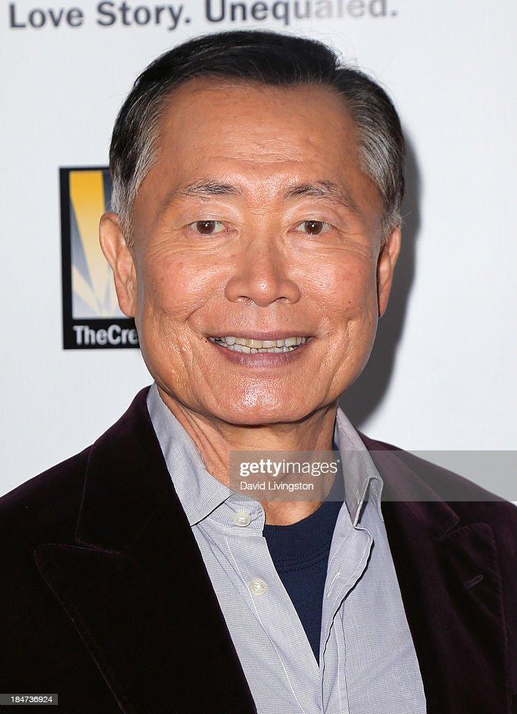 Actor <a gi-track='captionPersonalityLinkClicked' href=/galleries/search?phrase=George+Takei&family=editorial&specificpeople=1534988 ng-click='$event.stopPropagation()'>George Takei</a> attends the premiere of 'Bridegroom' at the AMPAS Samuel Goldwyn Theater on October 15, 2013 in Beverly Hills, California.