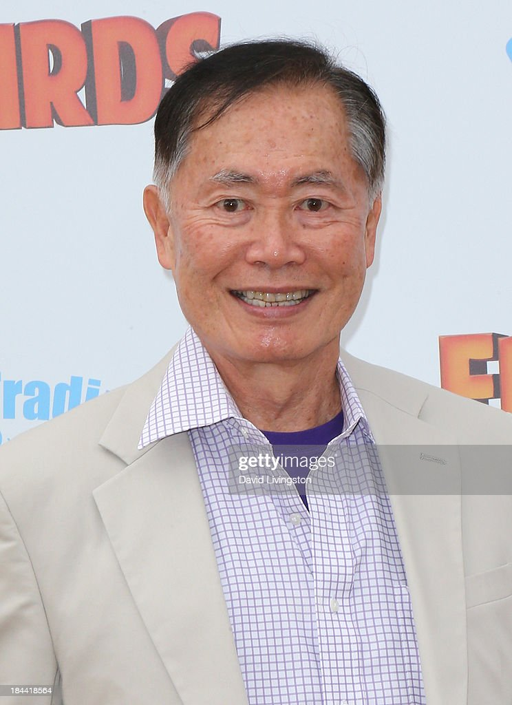 Actor <a gi-track='captionPersonalityLinkClicked' href=/galleries/search?phrase=George+Takei&family=editorial&specificpeople=1534988 ng-click='$event.stopPropagation()'>George Takei</a> attends the premiere of Relativity Media's 'Free Birds' at the Westwood Village Theatre on October 13, 2013 in Westwood, California.