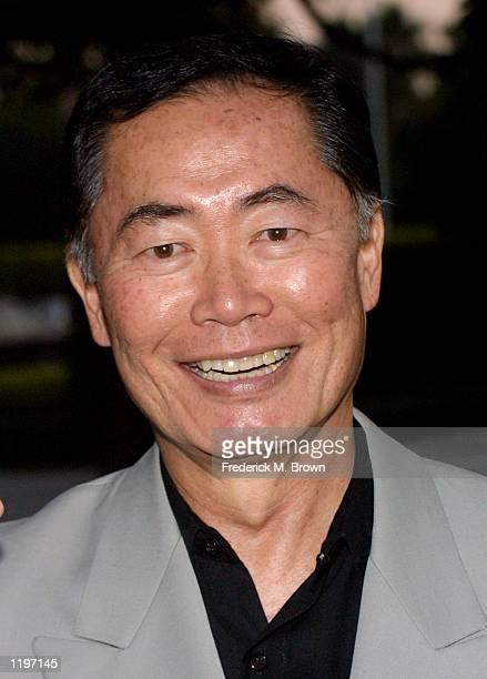 Actor George Takei attends the screening of Star Trek II The Wrath Of Khan at the Paramount Studios Theater on July 31 2002 in Los Angeles California