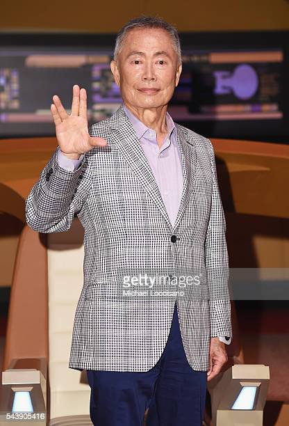 Actor George Takei attends the Star Trek The Star Fleet Academy Experience Preview at Intrepid SeaAirSpace Museum on June 30 2016 in New York City