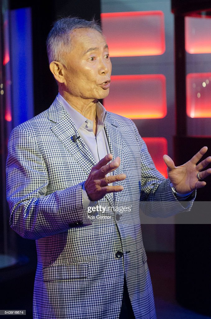 Actor <a gi-track='captionPersonalityLinkClicked' href=/galleries/search?phrase=George+Takei&family=editorial&specificpeople=1534988 ng-click='$event.stopPropagation()'>George Takei</a> attends the 'Star Trek: The Star Fleet Academy Experience Preview ' at Intrepid Sea-Air-Space Museum on June 30, 2016 in New York City.