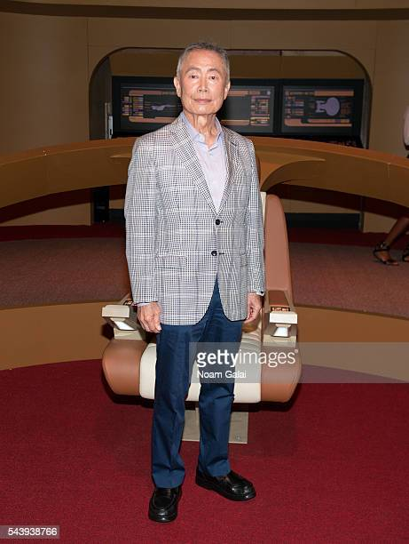 Actor George Takei attends the Star Trek The Star Fleet Academy Experience at Intrepid SeaAirSpace Museum on June 30 2016 in New York City