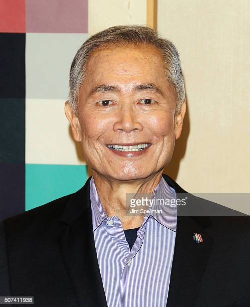 Actor George Takei attends the Theatre Forward's 13th Annual Broadway Roundtable at UBS Headquarters on January 29 2016 in New York City
