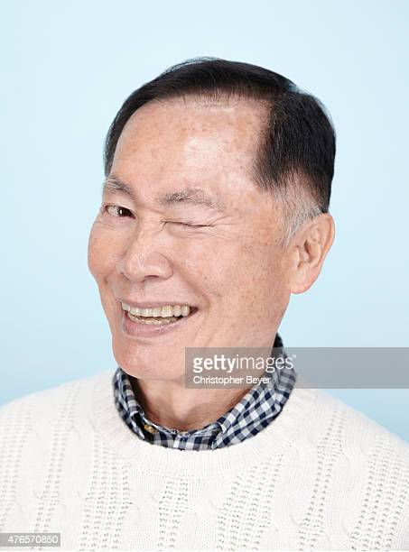 Actor George Takei is photographed for Entertainment Weekly Magazine on January 25 2014 in Park City Utah